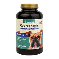 NaturVet Coprophagia Stool Eating Deterrent Plus Breath Aid for Dogs, 60ct.