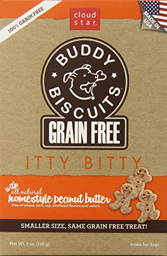 Cloud Star Grain Free Itty Bitty Buddy Biscuits in a Bag, Homestyle Peanut Butter - 7oz