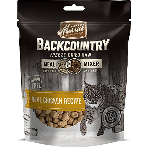 Merrick Backcountry Freeze-Dried Raw Meal Mixer Grain Free Chicken Cat Food, 4oz