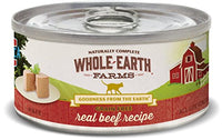 Whole Earth Farms Grain Free Beef Cat Food, 24 Pack