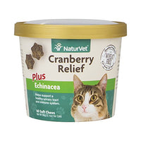NaturVet Cranberry Relief Urinary Tract Health for Cats, 60ct.