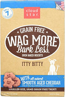 Cloud Star Wag More Oven Baked Grain Free Biscuits - Itty Bitty Cheddar Cheese - 7oz