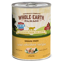 Whole Earth Farms Grain Free Chicken Cat Food 12.7oz, 12 Pack