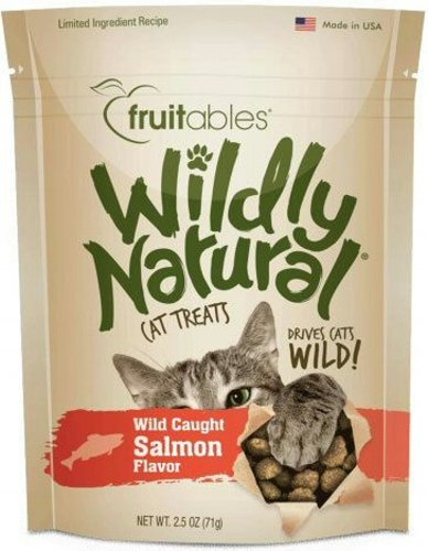 Fruitables Wildly Natural Salmon Cat Treats, 2.5oz.