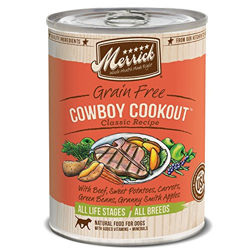 Merrick Classic Grain Free Cowboy Cookout Dog Food, 13.2oz. 12 Pack