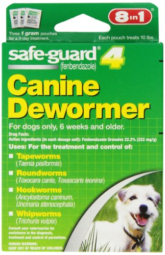 8 In 1 Safe Guard Canine DeWormer for Small Dogs, 1-Gram