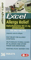 Excel Allergy Relief for Dogs, 36-Count Bottle
