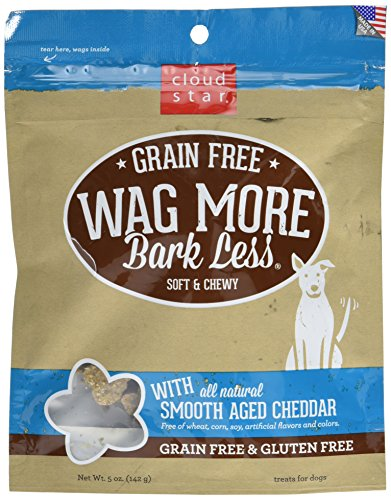 Cloud Star Wag More Bark Less Soft & Chewy Grain Free Aged Cheddar Chewy 5oz.