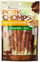 "Premium Pork Chomps Mini Twistz Chicken, 5"" 12ct"