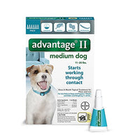 Advantage II Flea and Lice Treatment for Medium Dogs, 11 - 20 lb, 6 doses