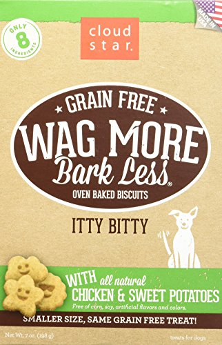 Cloud Star Wag More Oven Baked Grain Free Biscuits - Itty Bitty Chicken & Sweet Potato - 7oz