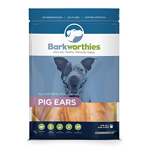 Barkworthies Pig Ears Dog Treats