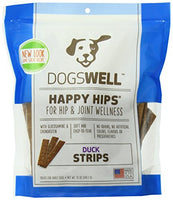 Dogswell Happy Hips Strips Duck Treats USA Made, 12oz