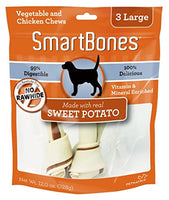 "SmartBones Sweet Potato Dog Chew, Large 7"", 3 pack"
