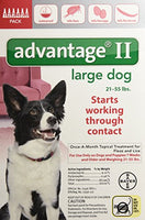 Advantage II Flea and Lice Treatment for Large Dogs, 21 - 55 lb, 6 doses