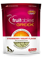 Fruitables Greek Strawberry Yogurt Crunchy Dog Treats, 7oz.