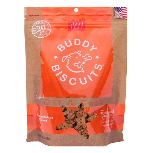 Cloud Star Original Soft and Chewy Buddy Biscuit, 20-oz, Peanut Butter