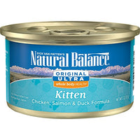 Natural Balance Original Ultra Chicken, Salmon & Duck Kitten Food, 24 Pack