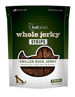 Fruitables Whole Jerky Strips Grilled Duck Dog Treats, 5oz.