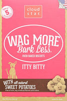 Cloud Star Wag More Bark Less Oven Baked Itty Bitty Sweet Potato Dog Treats, 8oz.