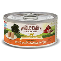 Whole Earth Farms Chicken & Salmon Grain Free Cat Food, 24 Pack