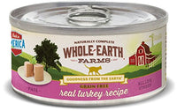 Whole Earth Farms Grain Free Turkey Cat Food, 24 Pack