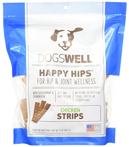 Dogswell Happy Hips Strips Chicken, 12oz