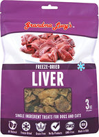 Grandma Lucy's Freeze Dried Liver Dog Treats, 3oz