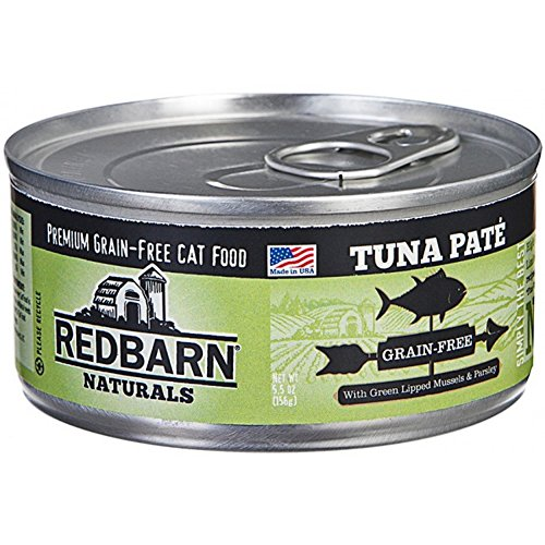 (Case of 24 Cans) RedBarn Naturals Grain-Free Tuna Pate Cat Food - 5.5 Ounces