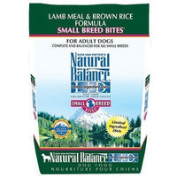 Natural Balance Small Breed Bites Limited Ingredient Lamb Meal & Brown Rice Dog Food