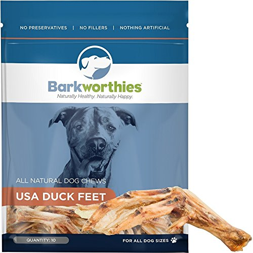 Barkworthies Duck Feet Dog Treats, 10 Pack
