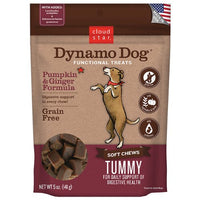 Cloud Star Dynamo Dog Tummy Functional Treat, Pumpkin and Ginger, 5oz