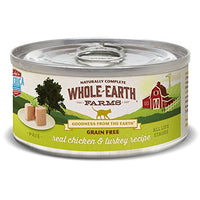 Whole Earth Farms Chicken & Turkey Grain Free Cat Food, 24 Pack