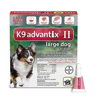 K9 Advantix II Flea, Tick and Mosquito Prevention for Large Dogs, 21 - 55 lb, 4 doses