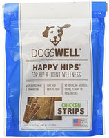 Dogswell Happy Hips Chicken Jerky Strip Dog Treat, 5oz