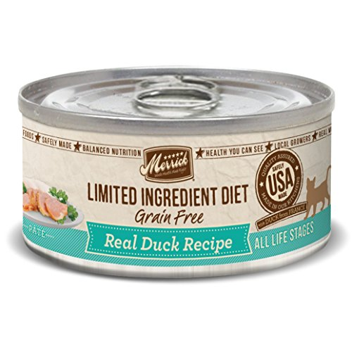 Merrick Limited Ingredient Diet Grain Free Duck Cat Food, 5oz. 24 Pack