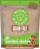 Cloud Star Grain Free Soft and Chewy Buddy Biscuits Dog Treats, Rosted Chicken, 5oz