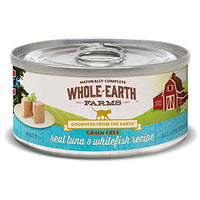 Whole Earth Farms Grain Free Tuna & Whitefiesh Cat Food, 24 Pack