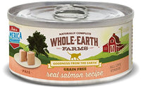 Whole Earth Farms Grain Free Salmon Cat Food, 24 Pack