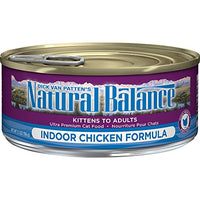 Natural Balance Indoor Formula Chicken Cat Food, 24 Pack