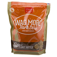 Cloud Star Wag More Bark Less Crunchy Peanut Butter Dog Treats, 3lb
