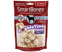 "SmartBones DoubleTime Bones Chicken Dog Chew, Mini 2.5"", 16 pack"