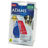 Adams Flea and Tick Spot On for Dogs, Medium Dogs 32-55 Pounds