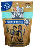 Howl's Kitchen Canine Cookies Lamb and Blueberry Dog Treats 10oz