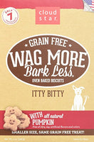 Cloud Star Wag More Oven Baked Grain Free Biscuits - Itty Bitty Pumpkin - 7oz.