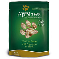 Applaws Chicken & Asparagus 12 Pack of 2.47oz Pouches
