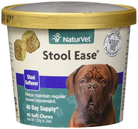 NaturVet Stool Ease Stool Softener for Dogs, 40ct. Soft Chews
