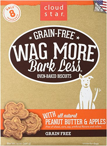 Cloud Star Wag More Oven Baked Grain Free Biscuits - Peanut Butter & Apples - 14oz
