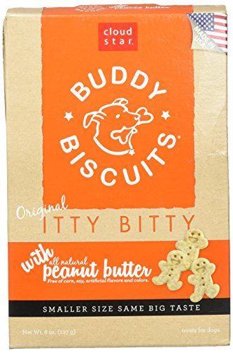 Cloud Star Itty Bitty Buddy Biscuits Dog Treats, 8oz Box, Peanut Butter