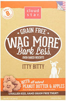 Cloud Star Wag More Oven Baked Grain Free Biscuits - Itty Bitty, Peanut Butter & Apples 7oz